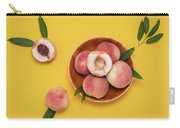 Fresh Juicy Peaches And Green Leaves Carry-all Pouch
