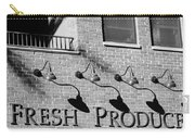 Fresh Produce Signage Black And White Carry-all Pouch