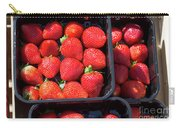 Fresh Ripe Strawberries In Plastic Boxes Carry-all Pouch