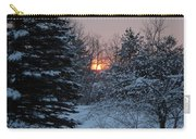 Fresh Snow At Sunrise Carry-all Pouch