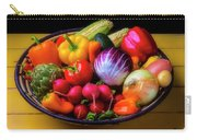 Fresh Vegetables In Lovely Basket Carry-all Pouch