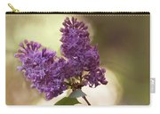Fresh Violet Lilac Flowers Carry-all Pouch