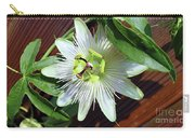 Fresh White Passion Flower  Carry-all Pouch