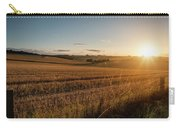 Freshly Harvested Fields Of Barley In Countryside Landscape Bath Carry-all Pouch