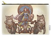 Freya And Her Cat Chariot-garbed Version Carry-all Pouch