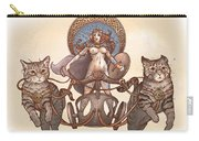 Freya And Her Cat Chariot-nude Version Carry-all Pouch