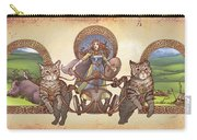 Freya Driving Her Cat Chariot - Triptic Garbed Version Carry-all Pouch