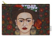 Frida Kahlo With Butterflies Carry-all Pouch