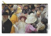 Friday At The French Artists Salon Carry-all Pouch by Jules Alexandre Grun
