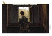 Friedrich Caspar David Woman At A Window Carry-all Pouch