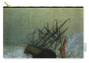 Friedrich Caspar David Wreck By The Sea Carry-all Pouch