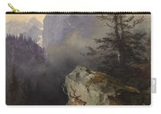 Friedrich Gauermann  Red Deer At The Watering Hole Carry-all Pouch