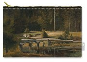 Friedrich Voltz 1817 Nordlingen   Munich 1886 Forest Clearing At A Pond Carry-all Pouch