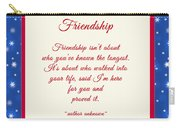 Friendship Poem Carry-all Pouch