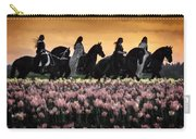 Friesians At Sunset Carry-all Pouch