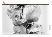 Frilly Edged Cyclamen Flowers Monochrome Carry-all Pouch