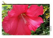 Frilly Red Hibiscus Carry-all Pouch
