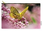 Fritillary Butterfly On Flowers Carry-all Pouch