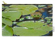 Frog Amongst The Lilypads Carry-all Pouch