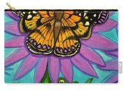 Frog And Butterfly Carry-all Pouch