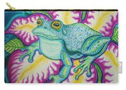 Frog And Flower Carry-all Pouch