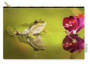 Frog And Fuchsia With Reflections Carry-all Pouch