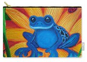 Frog And Lady Bug Carry-all Pouch