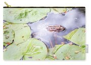 Frog And Lily Pads Carry-all Pouch