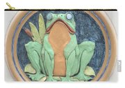 Frog Ceramic Plaque Carry-all Pouch