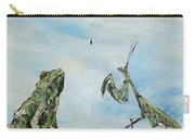 Frog Fly And Mantis Carry-all Pouch by Fabrizio Cassetta