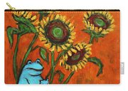 Frog I Padding Amongst Sunflowers Carry-all Pouch