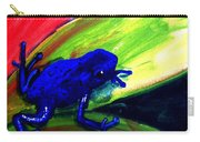 Frog On Leaf Carry-all Pouch