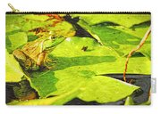 Frog On Lily Pad Carry-all Pouch
