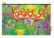 Frogs And Mushrooms Carry-all Pouch