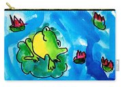 Frogs Carry-all Pouch by Elyse Bobczynski Age Five