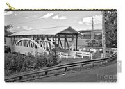 From Old To New In Bedford County Black And White Carry-all Pouch