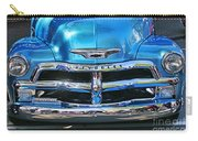 Front End Blue And Chrome Chevy Pick Up Carry-all Pouch