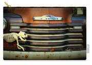 Front End Grille Of 1953 Chevrolet Advantage Design Truck With Dog Skeleton Carry-all Pouch
