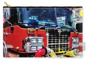 Front Of Fire Truck With Hose Carry-all Pouch