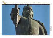Front View Of King Afonso The Third Statue. Portugal Carry-all Pouch