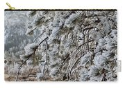 Frost-covered Pine Carry-all Pouch