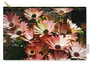 Frosted African Daisies Carry-all Pouch