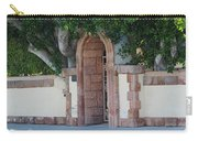 Frosted Almond Garden Wall With Red Brick Entrance Carry-all Pouch