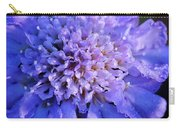 Frosted Blue Pincushion Flower Carry-all Pouch