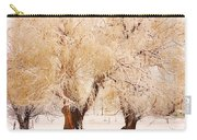 Frosted Golden Trees Carry-all Pouch