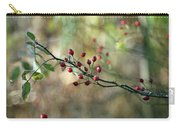 Frosted Red Berries And Green Leaves  Carry-all Pouch