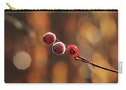 Frosted Rose Hips Carry-all Pouch