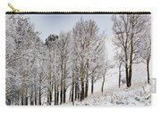 Frosty Aspen Trees Carry-all Pouch