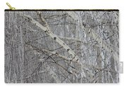Frosty Birch Tree Carry-all Pouch