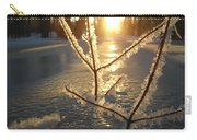 Frosty Branches At Sunrise Carry-all Pouch